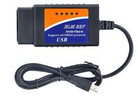 20 STÜCKE ELM 327 USB Kunststoff OBD II Diagnosescan Calbe ELM 327 Kunststoff OBD2 Scanner Werkzeug