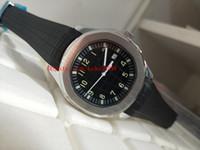 럭셔리 고품질 시계 40mm Aquanaut 5167A-001 고무 밴드 스트랩 팔찌 기계적 투명 자동 망 시계 시계