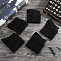 Emilback Classic 5 Prs / Lot Bambù nero Business Dress Calze per uomo Donna Alta qualità Morbido antibatterico 200n lavorato a maglia all'ingrosso