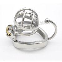 Nuova gabbia per uccelli di castità in acciaio inossidabile di piccole dimensioni con dispositivo di aggancio anello # R69