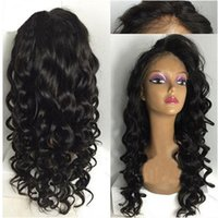 New Sexy Natural Looking Black Brown Long Curly Wigs Synthet...