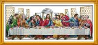 Тайная вечеря Иисус христианский декор картины, ручной вышивки крестом вышивка рукоделие наборы счетный печать на холсте DMC 14CT / 11CT
