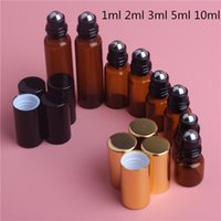 1ml 2ml 3ml 5ml 10ml Amber Glass Perfume Bottle Refillable E...