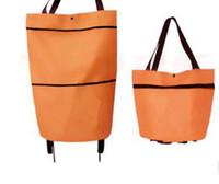 Bolso de compras plegable portátil carrito de mano reutilizable bolsa de la compra sobre ruedas Rolling Grocery Tote bolso 500 unids