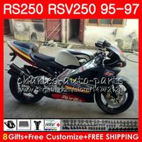 Кузов для Aprilia RS-250 RSV250 RS250 95 96 97 Матовый серебристый корпус 101HM.3 RSV250RR RS250R 95 97 RSV 250 RR RS 250 1995 1996 1997 Обтекатель
