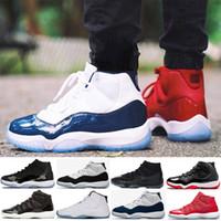 Diseñador 11 Gorra y vestido Hombre Zapatos de baloncesto 11s Prom Night Space Jam Bred Concord negro PRM Heiress Ganar como 96 Sports Sneakers