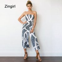 Zingirl backless sexy jumpsuits rompers women elegant strapl...