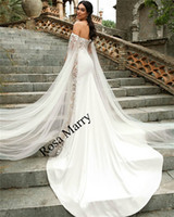 Sexy Caped Halter Mermaid Wedding Dresses 2020 Plus Size Vin...