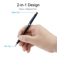 Penna capacitiva universale dello stilo del touch screen 2in1 per gli smartphone del touch screen o il PC della compressa con la penna a sfera di scrittura 100PCS