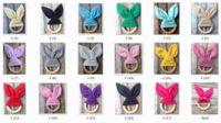 50pcs bebé infantil INS Teethers Mordedor Natural Círculo de madera de color sólido de algodón Dientes de oreja de conejo Práctica juguetes hechos a mano Anillo YE013
