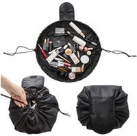 À prova d 'água de Maquiagem de Viagem Escovas Cosméticos Higiene Pessoal Estojo de Lavagem De Armazenamento Organizador Dobrável Portátil Saco de Cordão Ferramenta