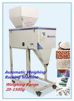 Machine de stockage de nourriture 20-1500g automatique granulaire poudre pesant machine de remplissage conditionneur avec trémie auto-induction de vibration
