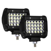 LED Pod, 2 Adet 4 '' 144 W LED Işık Çubuğu Quad Row Spot Işın LED Küpleri Çalışma Işık Off road Sürüş Sis Lambaları