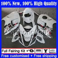Cuerpo Brillante blanco Para SUZUKI Hayabusa GSXR1300 2008 2009 2010 2011 19MY82 GSXR 1300 08 09 10 11 GSX R1300 12 13 14 15 Carenado Carrocería