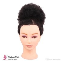 Synthetic afro curly Chignon Hair Curly Updo Hair Bun Donut ...