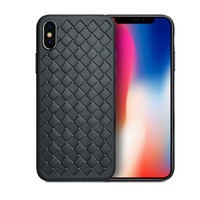 For iphone X 10 iphone 8 8 Plus Case Weave Leather Skin Soft...