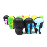 5pcs lot Skull Silicone Container Wax Dab Silicone Jar Screw...