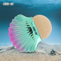 MAANGE Shell Cosmetic Powder Foundation Makeup Brush Blush C...
