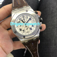Chronograph quartz wristwatch men stainless steel case 42mm ...
