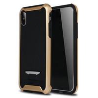 Più nuovo caso del telefono 2 in 1 copertura posteriore di caso ibrido di iPhone X XS Max Xr 8 7 6 6S Inoltre Samsung Galaxy S8 S9 Inoltre A8 2018 più