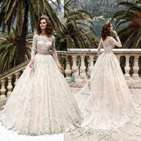 Vestido De Noiva Bateau Neck A Line Wedding Dresses Princess...