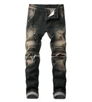 Pantalones vaqueros de alta calidad para hombres, gran venta, ropa de otoño, nueva marca, recto, slim fit azul, jeans para hombre más tamaño