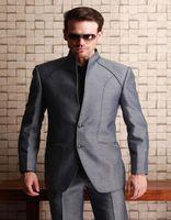 Фантастический дизайн серый Мужские костюмы 2019 Tough Guy Стиль Прохладный Шафера шафером Weding смокинги мужчин