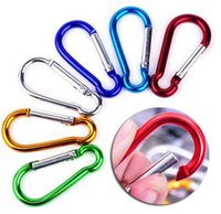4. 6*2. 3cm Size 5 Carabiner Ring Keyrings Snap Aluminum Alloy...