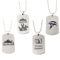 Fortnite Logo Necklace Classic FPS Game Stainless Steel Pend...