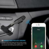 Universal 3.5mm Car Bluetooth Receptor BT4.1 Adaptador de Audio Inalámbrico Auto AUX Streaming de Música A2DP Kit para Altavoz Auricular coche