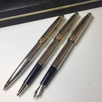 luxury 163 MB pen Meisterstucks Silver lines metal Ballpoint...