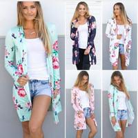 Carta Floral Casacos de Inverno Cardigans Casual Blusa Outwear Camisola Solta Mulheres Do Vintage Casacos De Malha Tops Pullover Jumper