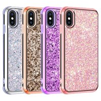For iPhone XR Case Bling Glitter Rhinestone Diamond Back Cov...