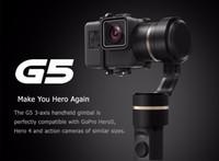 Feiyu G5 3-Axis يده جيمبال مكافحة اهتزاز محمول محمول للبطل 5 4 3 والأحجام مماثلة عمل كاميرا سبلاش واقية من سيلفي