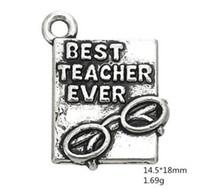 2021 Melhor professor já reservar com óculos gravados encantos Outras jóias personalizadas