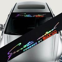 Lettres réfléchissantes LASER Lettres automobiles Autocollants de pare-brise Stickers à décalque pour BMW Audi Ford Focus Mazda - Cylisme de voiture
