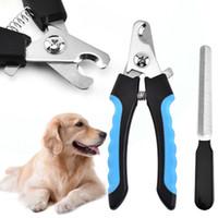 El mejor cortador de la cortadora de uñas del gato del perro del animal doméstico con el cuidado del lima del dedo del pie del acero inoxidable Clavos de la tijera de la preparación Recortes
