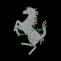 Springendes Pferd Hot Fix Strass Eisen auf Transfers Hotfix Applique Motiv