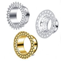 Plug piercing Mix Size Hollow Nuovo design Flare Flesh Tunnel Body Jewelry Orecchino Expander Ear Calibri Punk Kit Bone