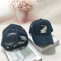 Gorra de béisbol unisex animal bordado Parche malla de algodón Gorra Snapback Nueva