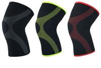 Neoprene comprimido esportes respiráveis joelheira basquete, badminton, corrida, ciclismo protetor de segurança joelho protetor perna manga M / L / XL