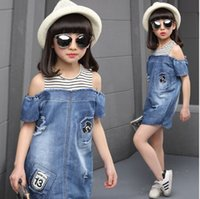 Jeans Dresses For Girls Dress Cotton Casual Children's Dresses Summer Baby Girl Dress Pattern Jeans Kids Clothes For Girls