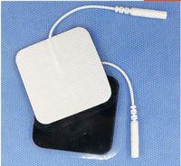 40pcs 매우 끈적 전극 패드 호환 SDZ-II 전자 침술 자극기 치료 기계 디지털 EMS 십 단위 5 * 5cm 2.0 mm