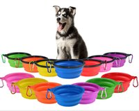 Dog Bowl Dog Cat Pet Travel feeder Silicone portable Collaps...