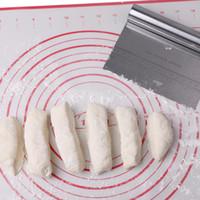 Acciaio inossidabile Pizza Cake Dough Raschietto Cutter Baking Pastry Spatole Fondant Cream Cutting With Measuring Guide Utensili da cucina