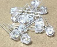 100pcs 5mm 슈퍼 밝은 흰색 밀 짚 모자 발광 다이오드 LED