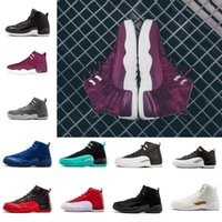 2018 shoes 12s Bordeaux Flu Game Basketball Shoes Sneakers M...