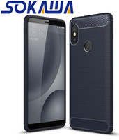 Pour Xiaomi Mi8 SE Xiaomi Mi 8 Explorer Case souple TPU Gel Protection de la peau en fibre de carbone Shell Cover