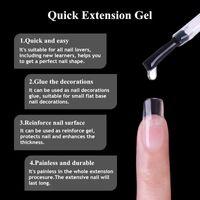 UR SUGAR 3 STÜCKE Clear Quick Extension Gel Nagellack UV Builder Gel Nail Art Poly