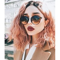 Fashion Women Wigs 2 Tones Ombre Pink Short Curly Wavy Bob H...